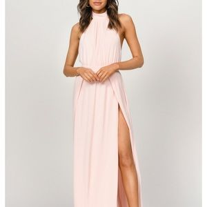 Light pink halter dress